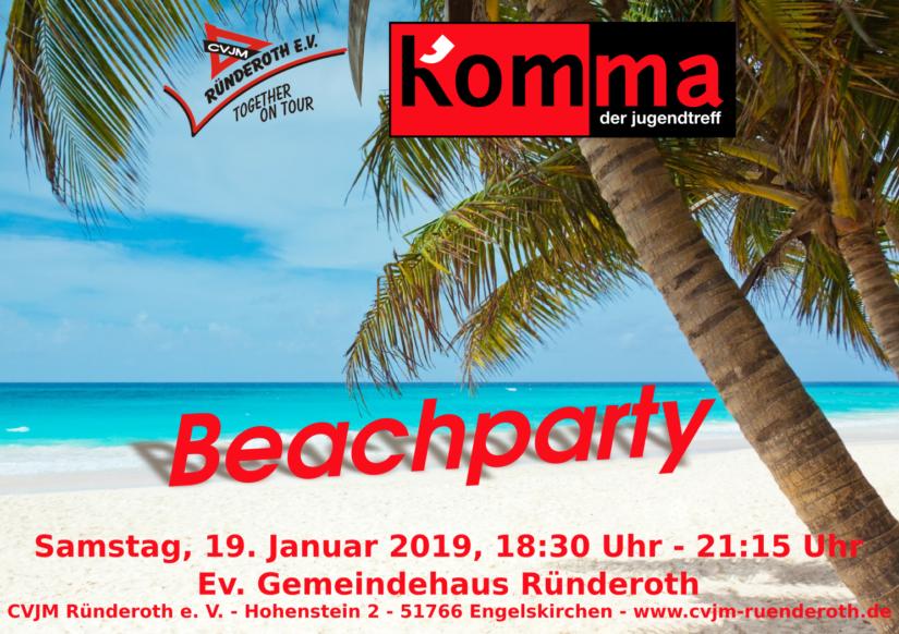 Kom'ma – Beachparty